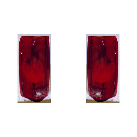 For Ford F150 Pickup 10/89 -98/Bronco 10/89-96 Tail Light Assembly Unit Styleside Type Pair Driver and Passenger Side (DOT Certified)