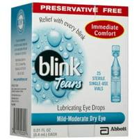 blink Tears Lubricating Eye Drops Mild-Moderate Dry Eye 25 Each (Pack of 6)