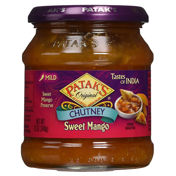 Patak's Chutney Sweet Mango 12 oz Jars Pack of 3 by