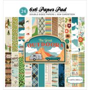 "Carta Bella Double - Sided Paper Pad 6"" x 6"" 24/Pkg - Great Outdoors, 12 Designs/2 Each"