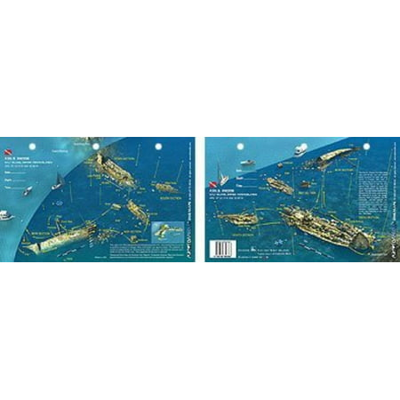 Proof British Virgin Islands (New Art to Media Underwater Waterproof 3D Dive Site Map - Rhone in British Virgin Islands (8.5 x 5.5 Inches) (21.6 x 15cm)/RFA,Walmartpletely Waterproof By Innovative Scuba)