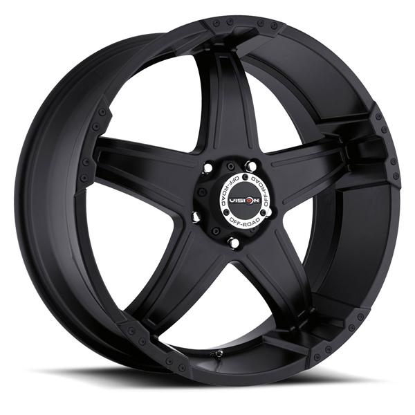 VISION 395 Wizard 20x9 5x150 +35mm Matte Black Wheel Rim