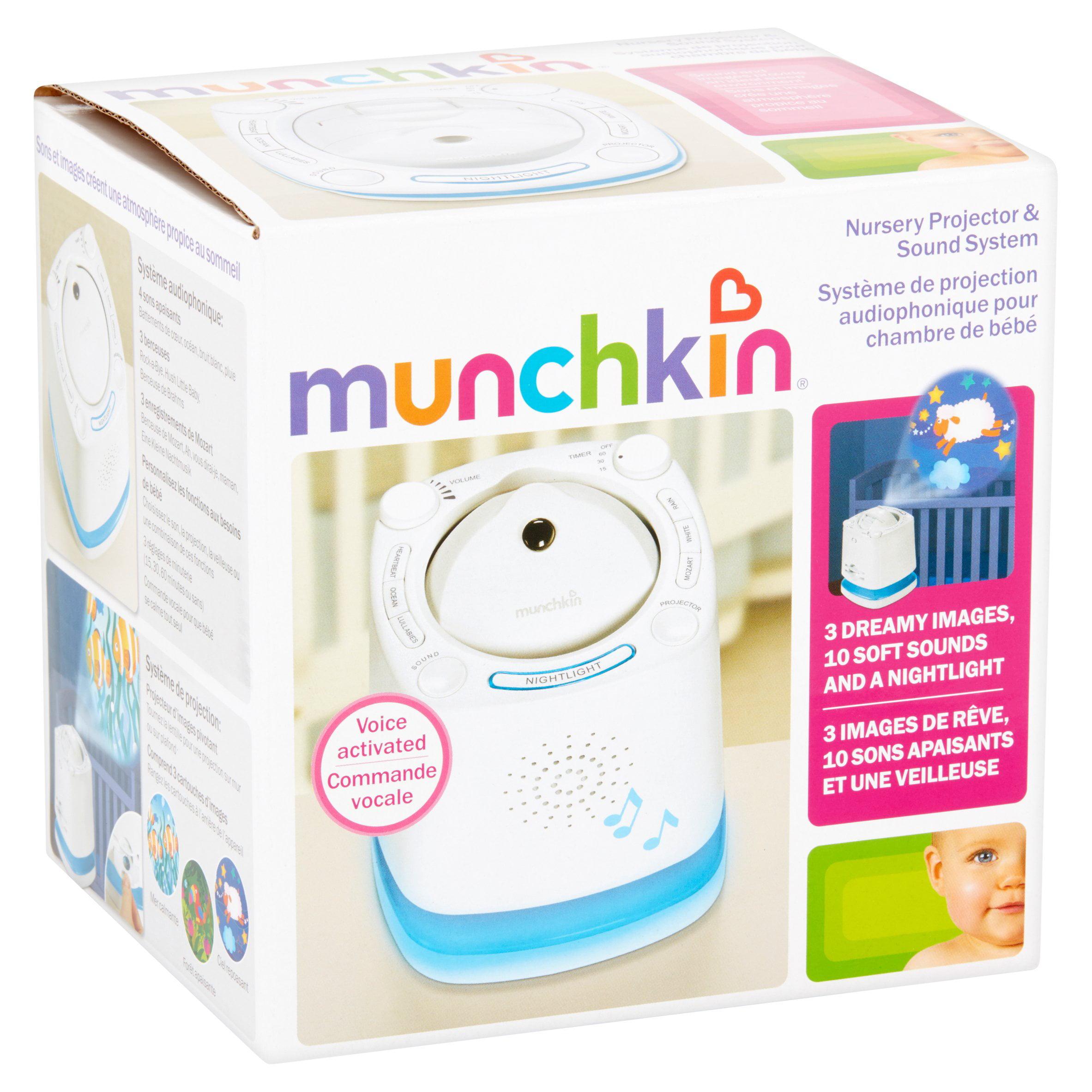 munchkin nursery projector & sound system instruction manual