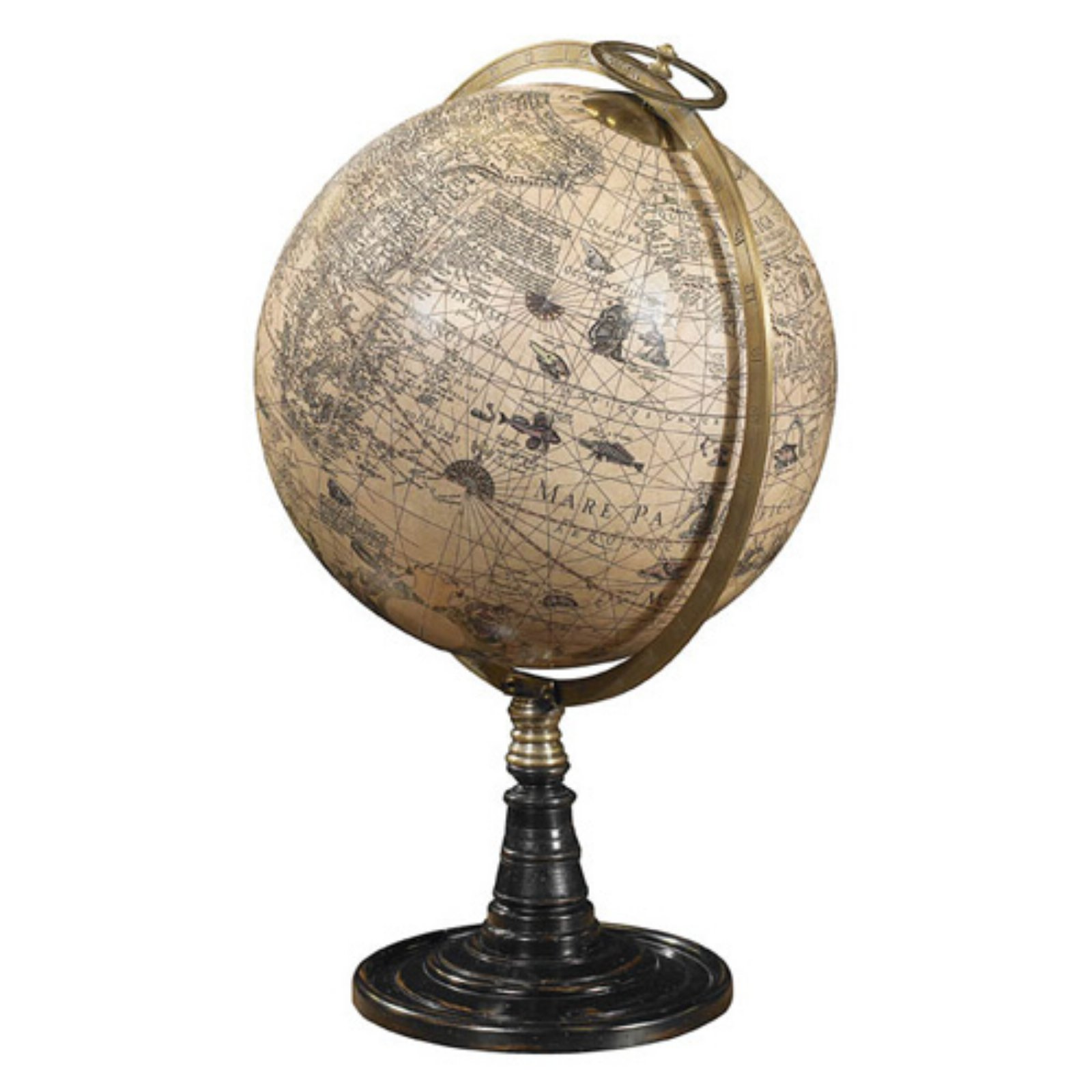 Old World Globe Stand - 14.25 in. Diam.
