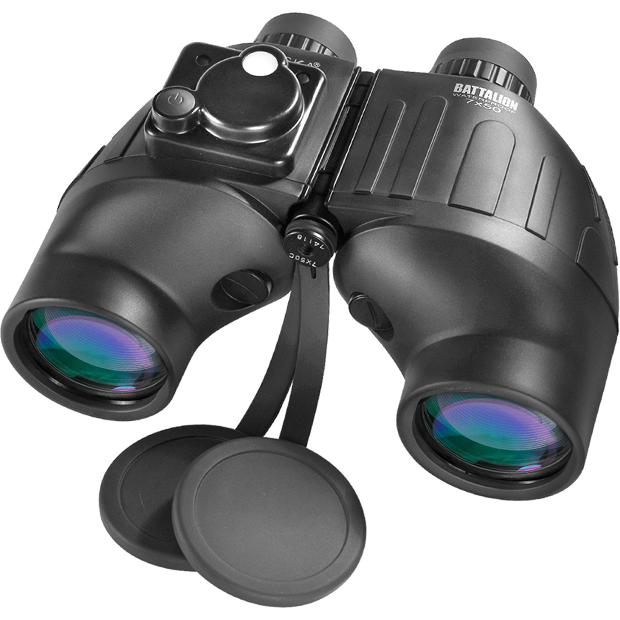 Barska Optics Battalion Binoculars, 7x50mm, Rangefinder/Compass