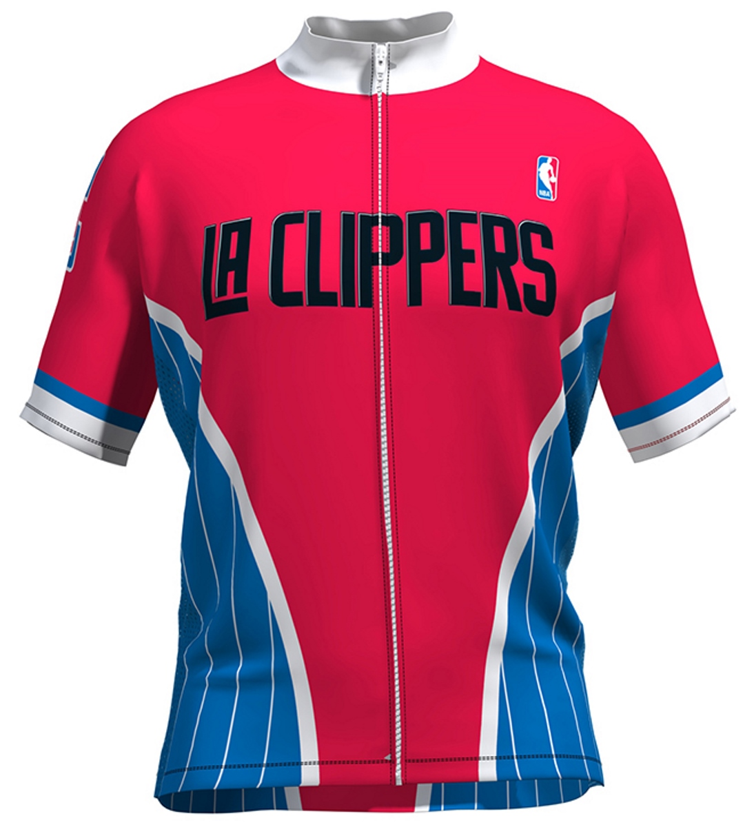 VOmax Mens NBA Los Angeles Clippers Wind Star Short Sleeve Cycling Jersey