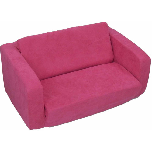 Toddler Flip Sofa, Red Micro