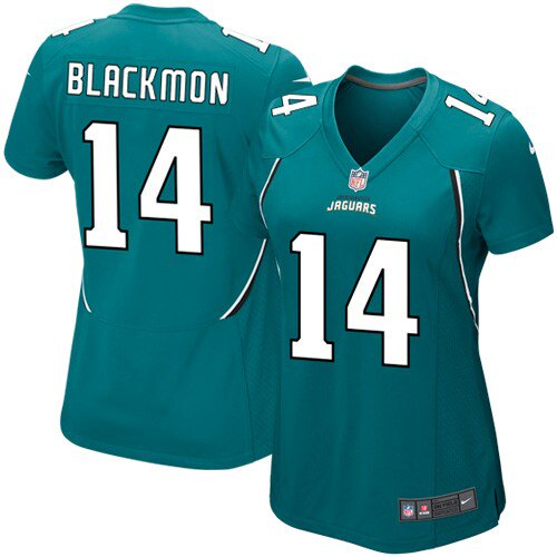 Justin Blackmon Jacksonville Jaguars Historic Logo Nike Women's Game Jersey -