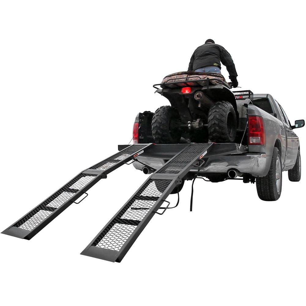 "90"" Black Steel Dual Runner Folding ATV Ramps"