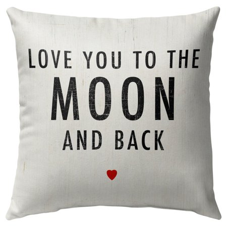 Image of Kavka Designs Love You To The Moon And Back Outdoor Pillow