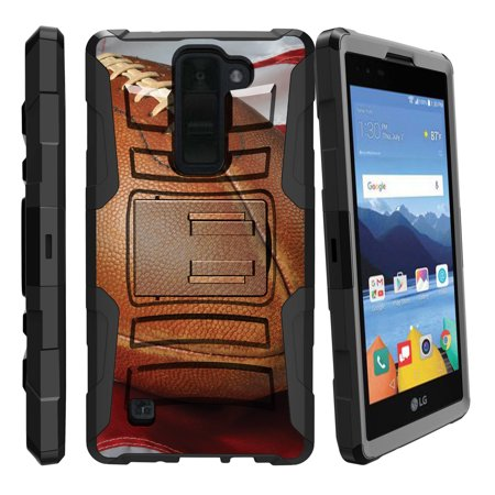 LG K8V and VS500 Miniturtle® Clip Armor Dual Layer Case Rugged Exterior with Built in Kickstand + Holster - American