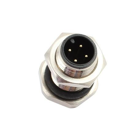 5pcs M12Q4J-12A AC250V 4A IP67 Waterproof M12 M/M Metal Connector - image 1 de 4