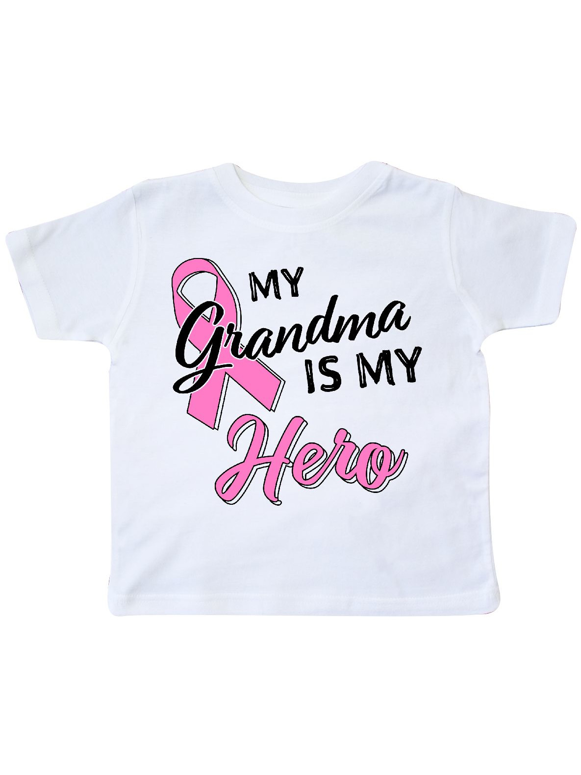 Breast Cancer Awareness Toddler T-Shirt Pink Inktastic My Grandma Is My Hero