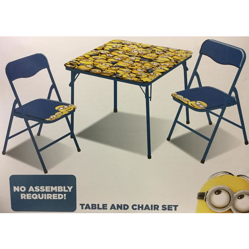 Minion 3-Piece Square Table and Chair Set
