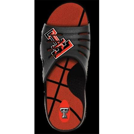 Jukz Sports TT-BK01-L Texas Tech Red Raiders Basketball Unisex Sports Slides, - Slime Basketball