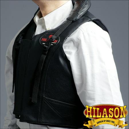 - xxl hilason leather bareback pro rodeo horse riding protective vest