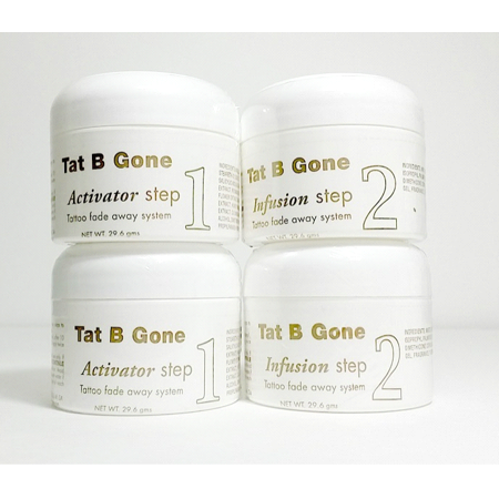 Tat B Gone Tattoo Removal System 2 Month Supply (B Stock Supply)