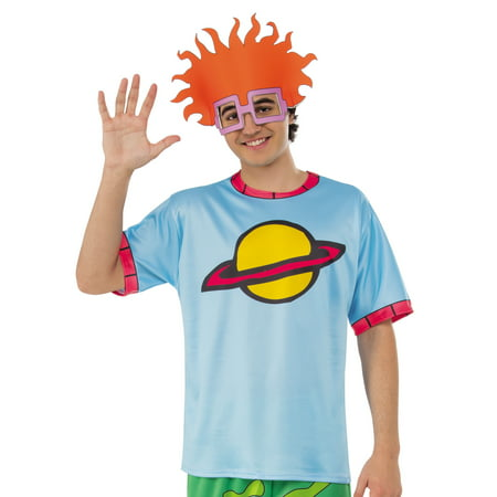 Rugrats Mens Chuckie Finster Adult 90'S Nickelodeon Costume Top Shirt