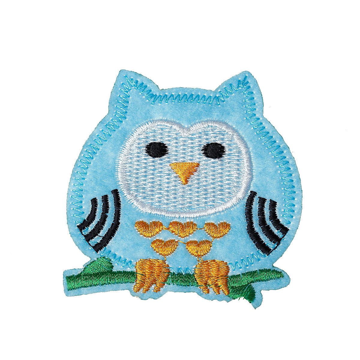 10 Pcs Blue Owl Embroidered Cloth Iron on Patches Appliques 6.8cm [Home]