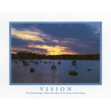 Motivational Vision The Future Belongs Art Print Poster Mini Poster - 20x16