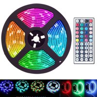 16.4 Feet Flexible 300 LED Light Strip 3258SMD, Color Changing, Includes 44 Key Remote, Perfect for Home Lighting, Kitchen, Bed, Bar, and Decor