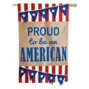 Evergreen Flag American Pennant Flag