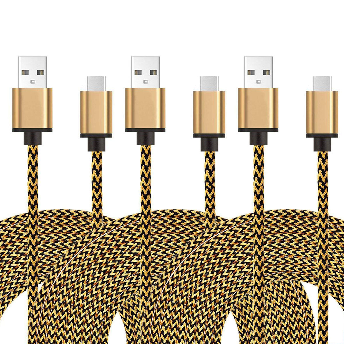 Type C Cable, EEEKit 3-Pack 10ft USB Type C Fast Charging Cable Data Sync Cord For Samsung Galaxy S9/S9 Plus S8/S8 Plus Note 9/8, LG G7 G6 V40 V30 G5
