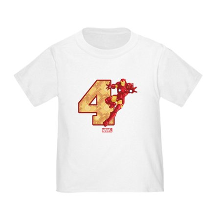 CafePress - Iron Man Birthday Age 4 Toddler T Shirt - Cute Toddler T-Shirt, 100% Cotton