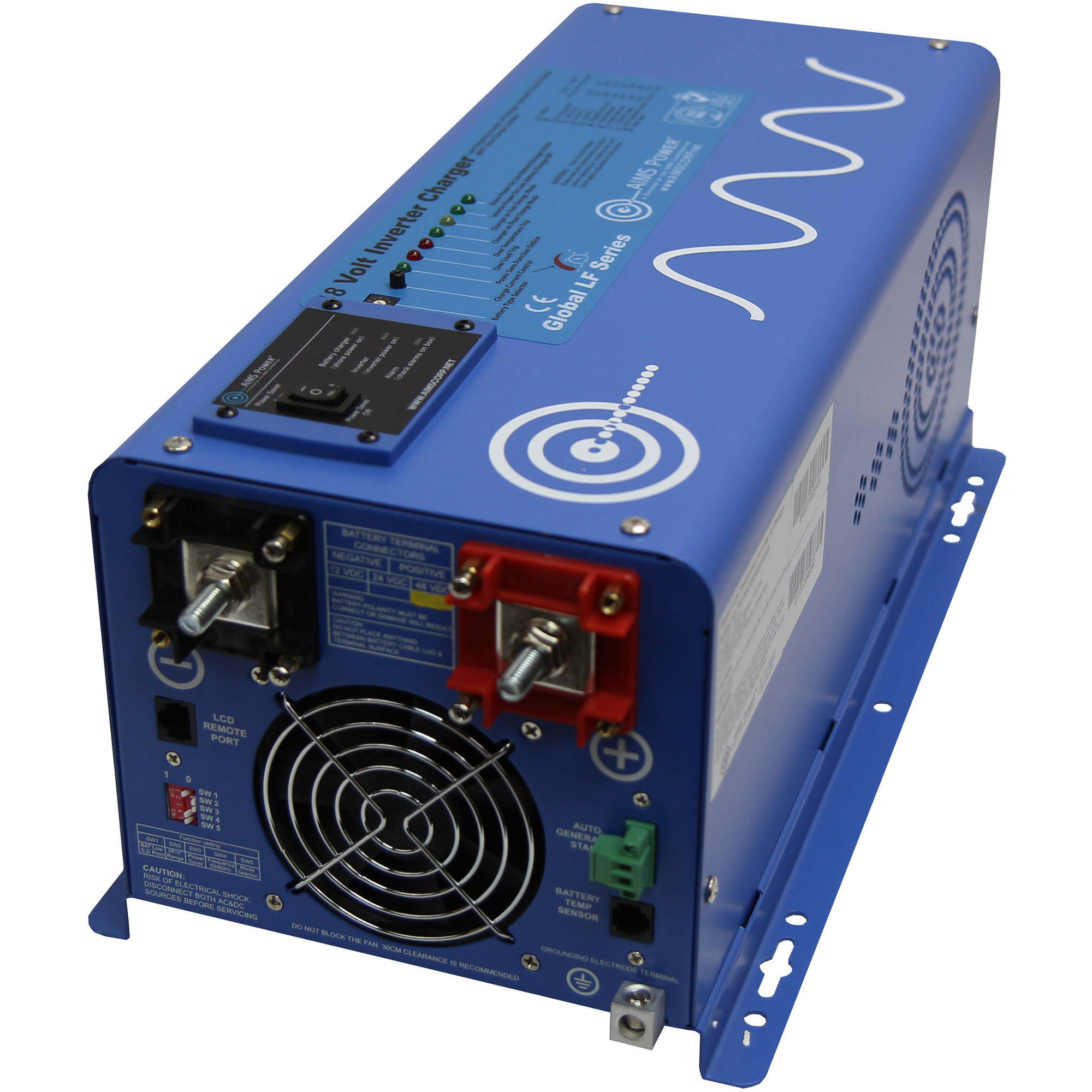 AIMS Power 2000W 48 Volt Pure Sine Inverter Charger