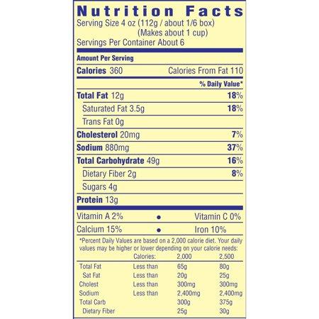recipe: velveeta mac and cheese box nutrition [16]