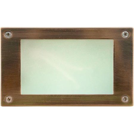 Dabmar Lighting LV650-ACP Cast Aluminum Recessed Open Face Brick, Step & Wall Light, Electro-Plated Antique Copper - 3.88 x 6.44 x 2.63 in.