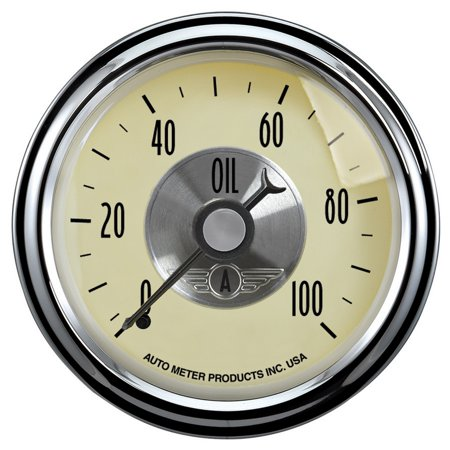 Auto Meter 2021 Oil Pressure  - 0-100 PSI - Mechanical - Prestige Antique