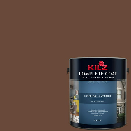 Spice Satin (KILZ COMPLETE COAT Interior/Exterior Paint & Primer in One #LM170 Ancient)