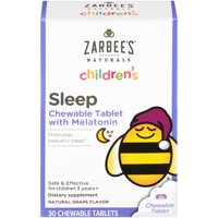 Zarbee's Naturals Children's Sleep with Melatonin, Grape, 30 Chewable Tablets