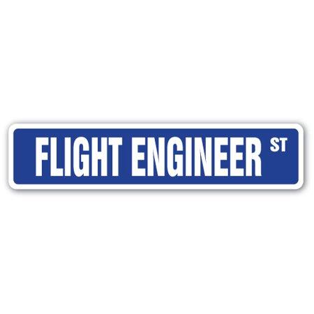 FLIGHT ENGINEER Street Sign crew flying pilot air force   Indoor/Outdoor   24