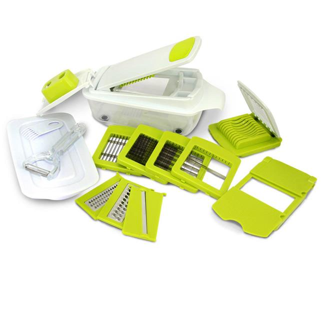 8-in-1 Multi-Use Slicer Dicer and Chopper With Interchangeable Blades by Cool Culinary