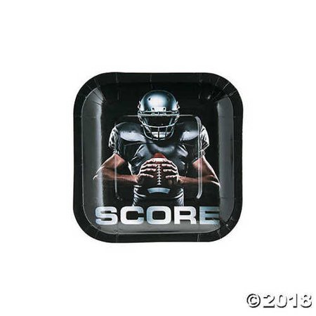 Football Square Dessert Plates - Football Desserts