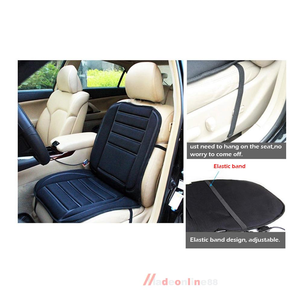 Car Heated Seat Cushion Cover Auto 12V Heating Heater Warmer Pad Winter by