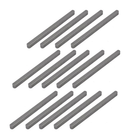 Unique Bargains 100mmx6mmx6mm Carbon Steel Key Stock Keystock Gray 14pcs - image 1 of 2