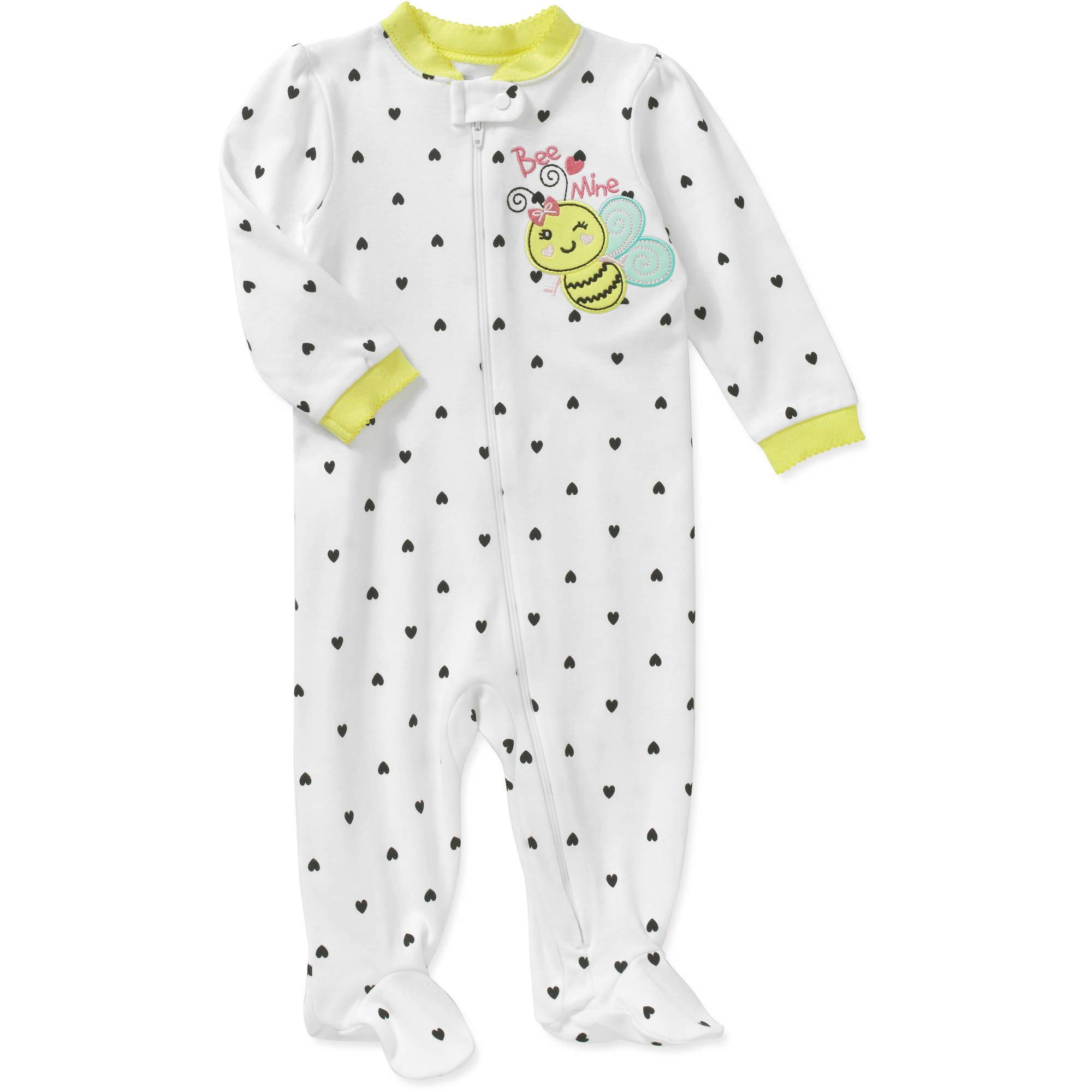 Garanimals Newborn Baby Girl Cotton Sleep N Play Walmart Com