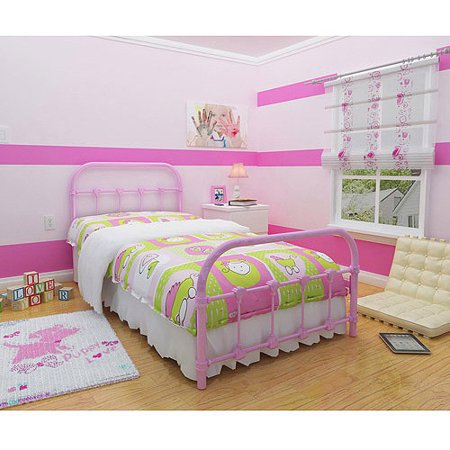 melissa metal twin bed multiple colors walmartcom - Metal Frame Twin Bed
