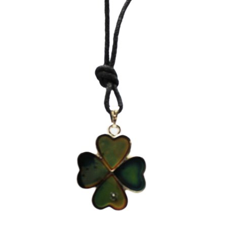 Four Leaf Clover Fashion Jewelry Mood Necklace](Mood Necklace Color Chart)