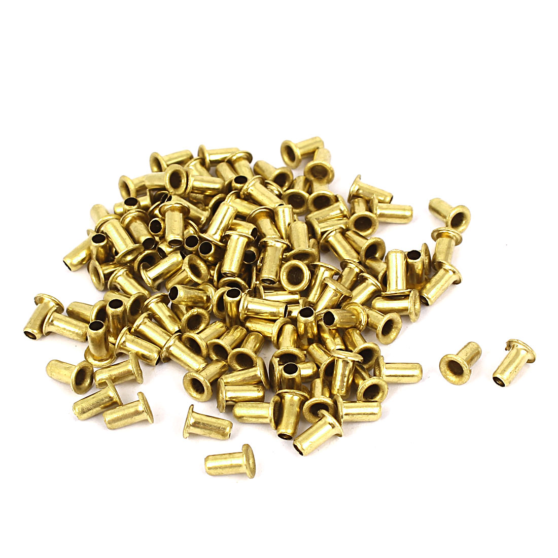100pcs 3mm x 6mm Brass Plated Rivets Hollow Grommets PCB Circuit Board