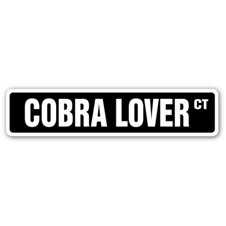 Cobra Lover Street [3 Pack] of Vinyl Decal Stickers | Indoor/Outdoor | Funny decoration for Laptop, Car, Garage , Bedroom, Offices | SignMission (Cobra Decal)