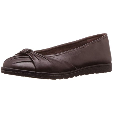Easy Street Womens Giddy Ll Closed Toe Slide Flats