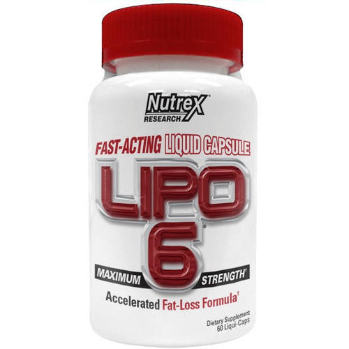 Lipo-6 Fast-Acting Liquid Capsule Fat-Burner 60 ct