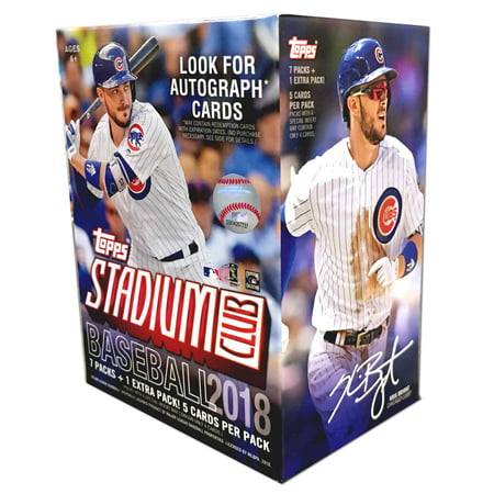 - 2018 Topps Stadium Club Retail Blaster Box (8 Packs/5 Cards)