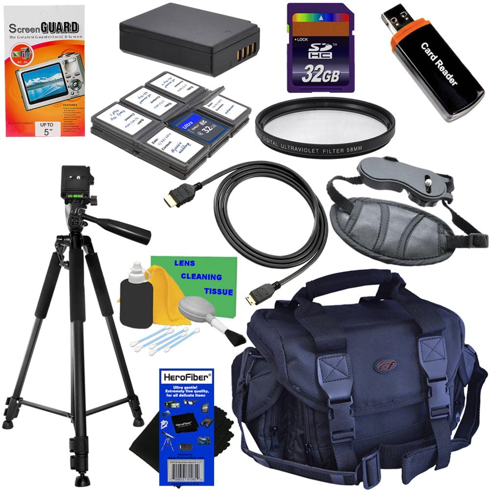 12pc Bundle 32GB Accessory Kit w/LP-E10 Battery Pack + He...