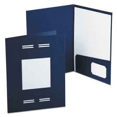 Imperial Series Laserview Business Portfolio, Premium Paper, Blue, 10/Pack