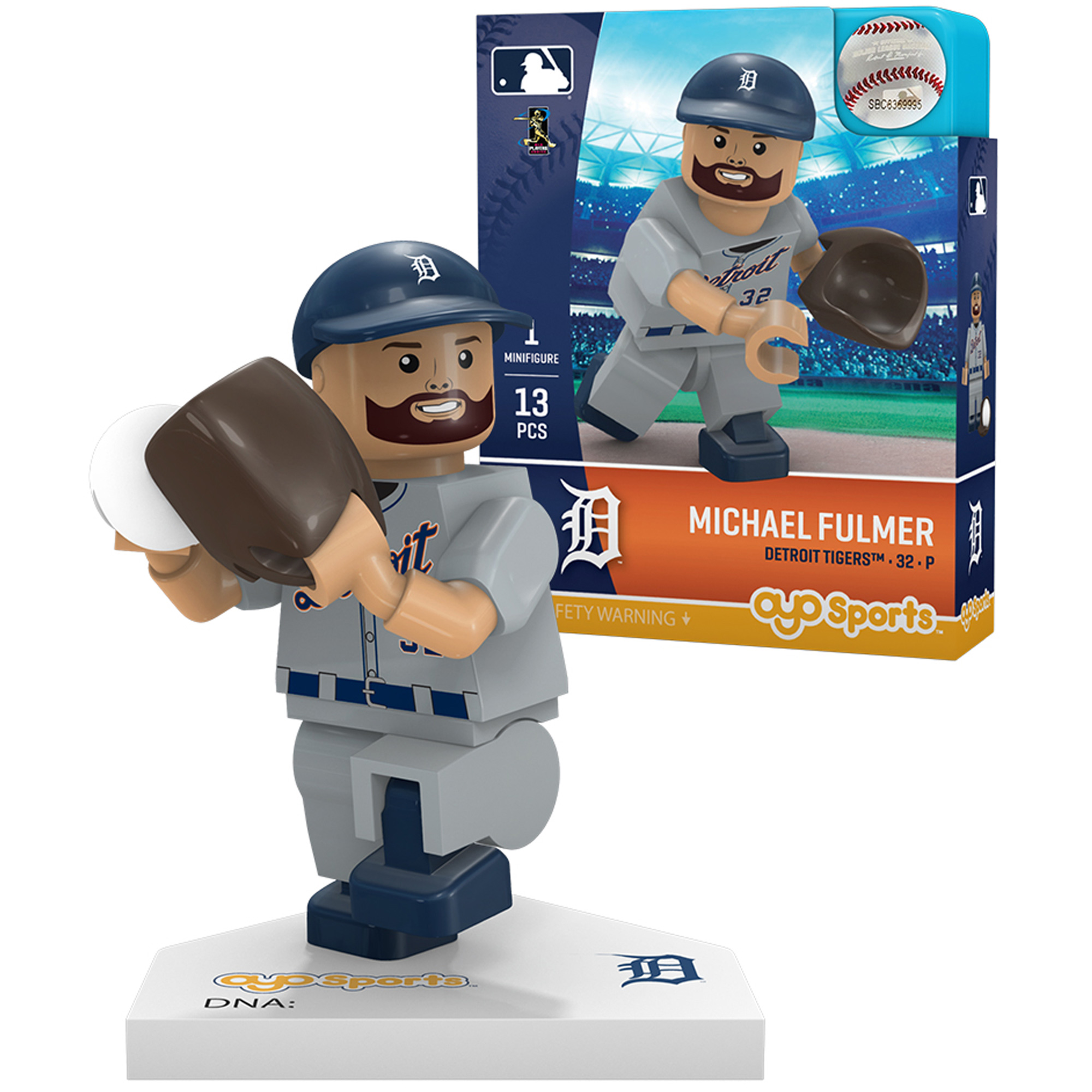 Michael Fulmer Detroit Tigers OYO Sports Generation 5 Player Minifigurine - No Size